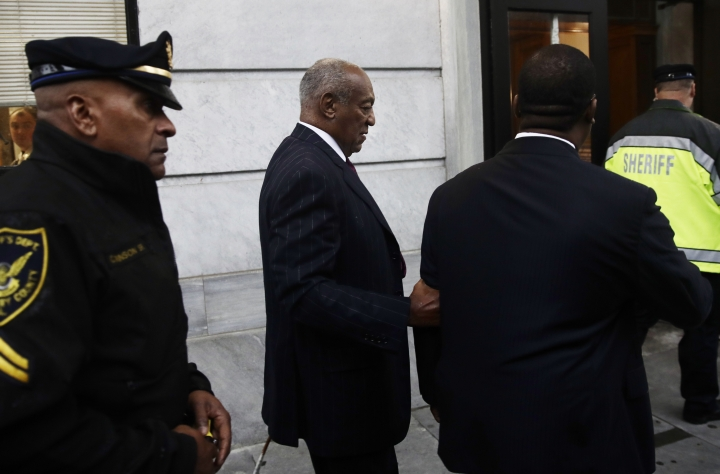 Bill Cosby arrives for his sentencing hearing at the Montgomery County Courthouse, Tuesday, Sept. 25, 2018, in Norristown Pa. (AP Photo/Matt Rourke)