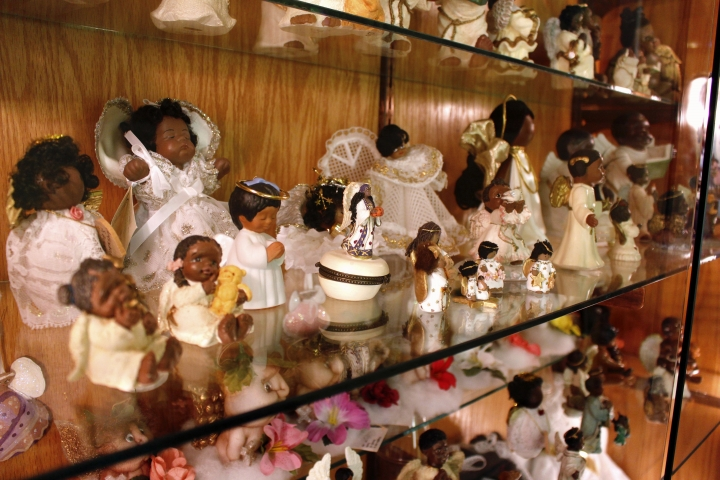 This Sept. 13, 2018, photo shows angels donated by Oprah Winfrey at The Angel Museum in Beloit, Wis. The museum's final day will be Saturday, Sept. 29, 2018. Founder Joyce Berg and her late husband hold a Guinness World Record, with more than 13,000 angels. Berg said they are closing after 20 years due to insufficient funds, membership, sponsors and volunteers. (AP Photo/Carrie Antlfinger)
