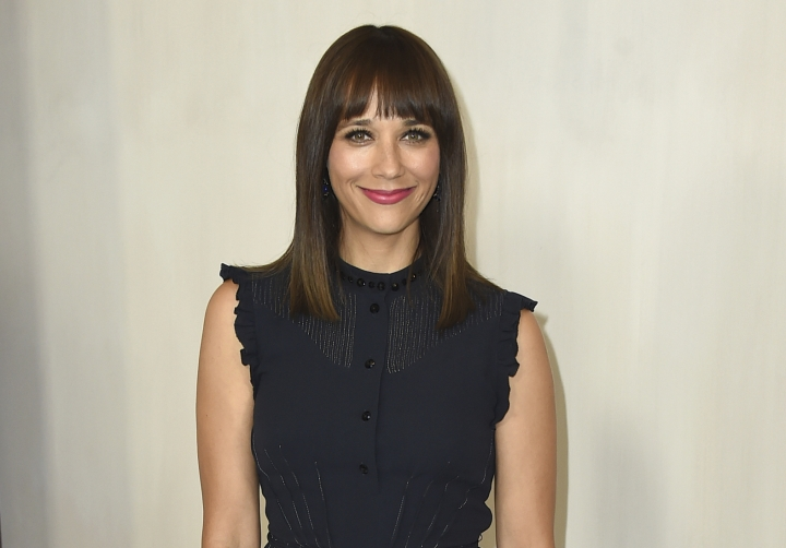 """FILE - In this Oct. 14, 2017 file photo, Rashida Jones arrives at the 15th annual Hammer Museum Gala in Los Angeles. A year after the Harvey Weinstein allegations first surfaced, Hollywood is still sifting through the wreckage. For many, the Weinstein case laid bare the movie industry's systemic gender inequalities. When Jones and her writing partner Will McCormack exited Pixar's """"Toy Story 4,"""" Jones noted the animation studio's poor record of female filmmakers. (Photo by Jordan Strauss/Invision/AP, File)"""