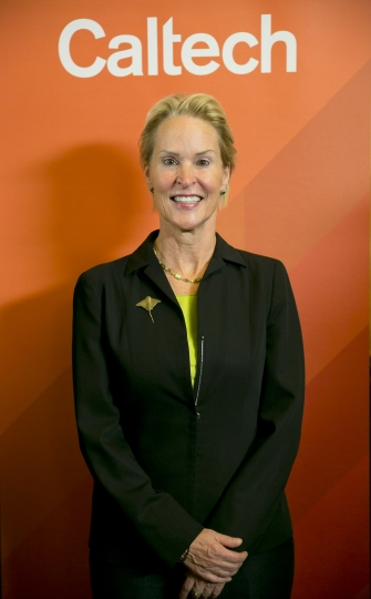 Nobel chemistry winner Frances Arnold poses for a photo at California Institute of Technology in Pasadena, Calif., Wednesday, Oct. 3, 2018. (AP Photo/Damian Dovarganes)