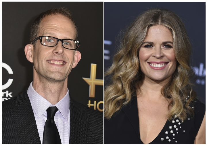 "This combination photo shows Pete Docter at the Hollywood Film Awards in Beverly Hills, Calif., on Nov. 1, 2015, left, and Jennifer Lee at the world premiere of ""A Wrinkle in Time"" in Los Angeles on Feb. 26, 2018. When Pixar co-founder and chief creative officer John Lasseter stepped down earlier this year after acknowledging ""missteps"" with his behavior with employees, he was replaced with Docter and Lee. (Photos by Jordan Strauss/Invision/AP, File)"
