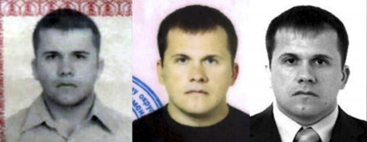 This undated handout image issued by Bellingcat shows photos of Dr Alexander Yevgenyevich Mishkin, the man the investigative website have alleged was who travelled to Salisbury under the alias Alexander Petrov, over the years. The investigative group Bellingcat is reporting that one of the two suspects in the poisoning of an ex-spy in England is a doctor who works for Russian military intelligence. Bellingcat said on its website Monday, Oct. 8, 2018 that the man British authorities identified as Alexander Petrov is actually Alexander Mishkin, a trained doctor working for the Russian military intelligence unit known as GRU. (Bellingcat via AP)