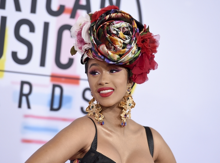 Cardi B arrives at the American Music Awards on Tuesday, Oct. 9, 2018, at the Microsoft Theater in Los Angeles. (Photo by Jordan Strauss/Invision/AP)