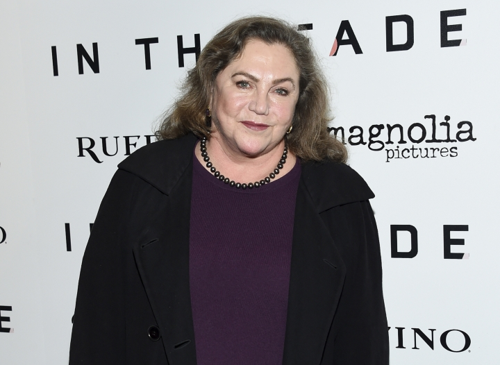 "FILE - In this Dec. 4, 2017, file photo, actress Kathleen Turner attends the premiere of ""In the Fade"" in New York. Turner will make an unexpected Metropolitan Opera debut in Donizetti's ""The Daughter of the Regiment"" in the non-singing role of the Duchess of Krakenthorp. She will appear in seven performances of the comic opera from Feb. 7 to March 1. (Photo by Evan Agostini/Invision/AP, File)"