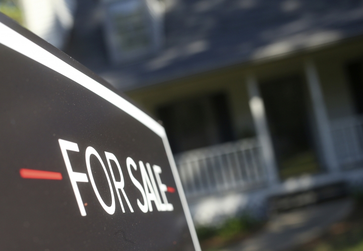 FILE- This Wednesday, Oct. 3, 2018, file photo shows a home offered for sale in the Atlanta suburb of Roswell, Ga. On Thursday, Oct. 11, Freddie Mac reports on the week's average U.S. mortgage rates. (AP Photo/John Bazemore, File)