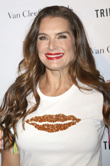 """FILE - In this April 9, 2018 file photo, Brooke Shields attends the Tribeca Ball at the New York Academy of Art in New York. Bette Midler and Shields are among the guest stars dropping in on CBS' """"Murphy Brown"""" revival. Shields is on the Nov. 15, 2018, episode as a former beauty-pageant pal of series star Faith Ford's Corky who emerges from a long coma. (Photo by Greg Allen/Invision/AP, File)"""