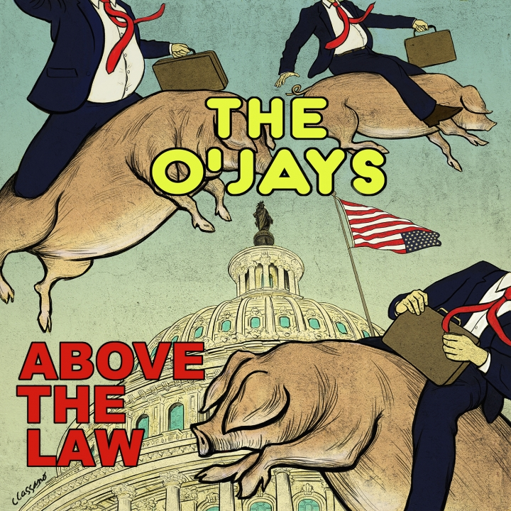 "This image released by S-Curve Records shows ""Above the Law,"" a release by The O'Jays. The Rock and Roll Hall of Fame inductees known for the classic song ""Love Train"" on Friday released the politically charged single ""Above the Law,"" which explores racial and class inequality. The single will be part of the group's final studio album, ""The Last Word,"" which is their first original material in almost 20 years and is set for release Feb. 22. (S-Curve Records via AP)"