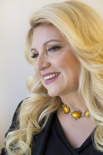 """Radio personality Delilah poses for a portrait in New York on Thursday, Oct. 18, 2018, to promote her memoir, """"One Heart at a Time."""" (AP Photo/Mark Lennihan)"""