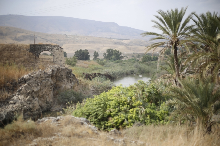 The Jordan river flows in the Jordan valley area called Baqura, Jordanian territory that was leased to Israel under the 1994 peace agreement between the two countries, Monday, Oct. 22, 2018. Jordan's King Abdullah II on Sunday said he has decided not to renew the lease on two small areas of Baqura and Ghamr, that was part of his country's landmark peace treaty with Israel. The leases expire next year after 25 years. (AP Photo/Ariel Schalit)