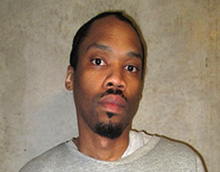 "This Feb. 5, 2018, photo provided by the Oklahoma Department of Corrections shows Julius D. Jones. A DNA test funded by attorneys for Jones, an Oklahoma death row inmate who was featured on the ABC-TV documentary series ""The Last Defense,"" found his DNA matches that found on key evidence. Jones was sentenced to die for the July 1999 slaying of Paul Howell. (Oklahoma Department of Corrections via AP)"