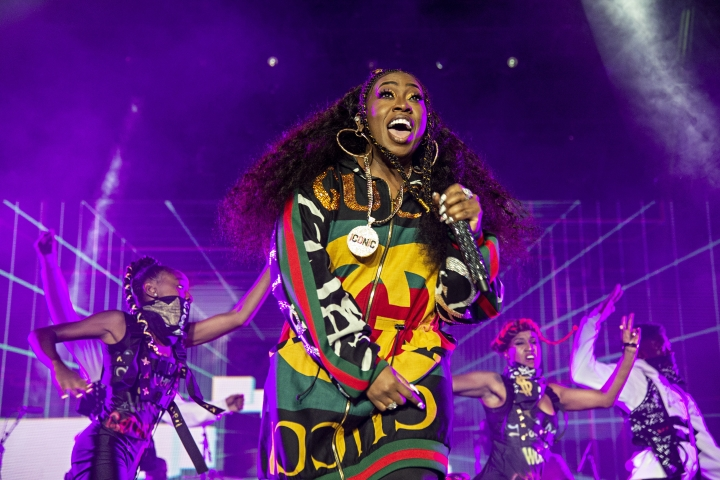 FILE - In this July 7, 2018 file photo, Missy Elliott performs at the 2018 Essence Festival in New Orleans. Elliott, one of rap's greatest voices and also a songwriter and producer who has crafted songs for Beyonce and Whitney Houston, is one of the nominees for the 2019 Songwriters Hall of Fame. She is the first female rapper nominated for the prestigious prize and could also become the third rapper to enter the organization following recent inductees Jay-Z and Jermaine Dupri. (Photo by Amy Harris/Invision/AP, File)