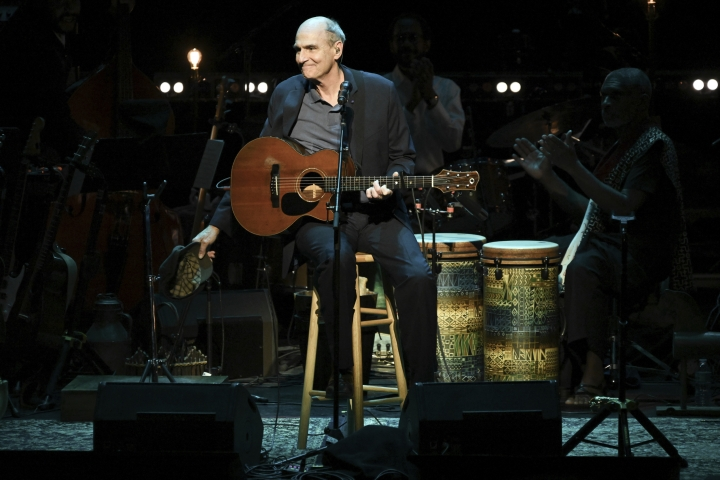 James Taylor performs at JONI 75: A Birthday Celebration on Wednesday, Nov. 7, 2018, at the Dorothy Chandler Pavilion in Los Angeles. (Photo by Richard Shotwell/Invision/AP)