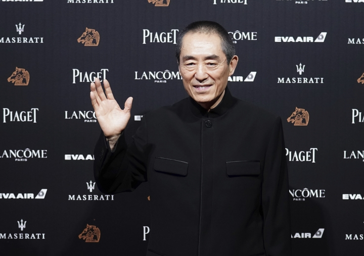 "Chinese director Zhang Yimou arrives at the 55th Golden Horse Awards in Taipei, Taiwan, Saturday, Nov. 17, 2018. Zhang is nominated for Best Director for the film ""Shadow"" at this year's Golden Horse Awards -one of the Chinese-language film industry's biggest annual events. (AP Photo/Billy Dai)"