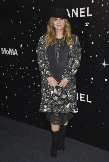 Actress Drew Barrymore attends the Museum of Modern Art Film Benefit tribute to Martin Scorsese, presented by Chanel, on Monday, Nov. 19, 2018, in New York. (Photo by Evan Agostini/Invision/AP)