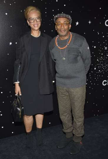 Filmmaker Spike Lee, right, and wife Tonya Lewis Lee attend the Museum of Modern Art Film Benefit tribute to Martin Scorsese, presented by Chanel, on Monday, Nov. 19, 2018, in New York. (Photo by Evan Agostini/Invision/AP)