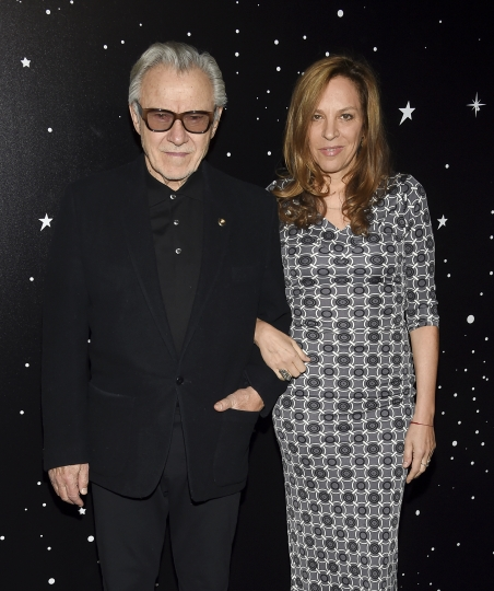 Actor Harvey Keitel, left, and wife Daphna Kastner attend the Museum of Modern Art Film Benefit tribute to Martin Scorsese, presented by Chanel, on Monday, Nov. 19, 2018, in New York. (Photo by Evan Agostini/Invision/AP)