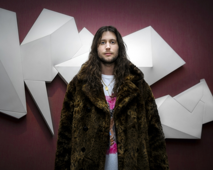 """In this Nov. 15, 2018 photo, Swedish composer Ludwig Goransson poses for a portrait in New York. At just 34, Goransson is having the best year of his career. He completed the film score for the uber-successful """"Black Panther,"""" and earned three nominations at this year's Grammy Awards. He also composed music for the film """"Venom,"""" released last month, and returned to the """"Creed"""" franchise to do its film score. (Photo by Christopher Smith/Invision/AP)"""