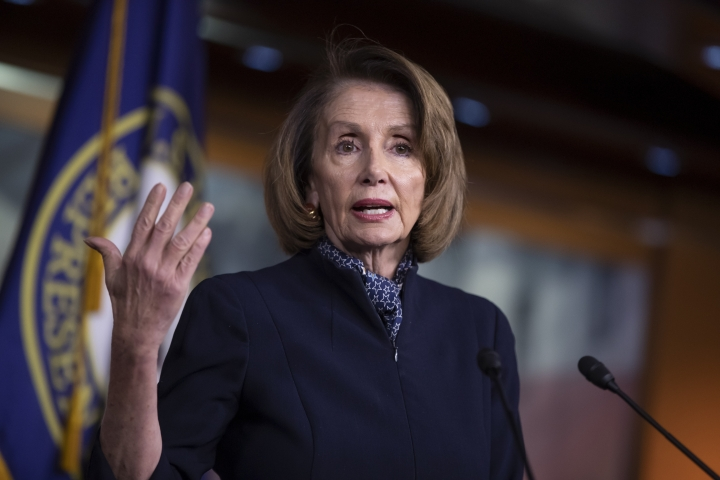 House Democratic leader Nancy Pelosi of California holds a news conference at the Capitol in Washington, Thursday, Dec. 13, 2018. Pelosi has all but ensured she will become House speaker next month, quelling a revolt by disgruntled younger Democrats by agreeing to limit her tenure to no more than four additional years in the chamber's top post. (AP Photo/J. Scott Applewhite)