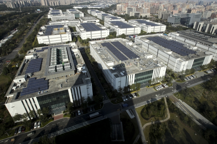 This shows Huawei research and development centre in Dongguan in south China's Guangdong province, Tuesday, Dec. 18, 2018. While a top executive of Chinese tech giant Huawei faces possible U.S. charges over trade with Iran, the company's goal to be a leader in next-generation telecoms is colliding with security worries abroad. Australia and New Zealand have barred Huawei as a supplier for fifth-generation networks, joining the U.S. and Taiwan. Last week, Japan's cybersecurity agency said Huawei and other vendors deemed risky will be off-limits for government purchases. (AP Photo/Andy Wong)