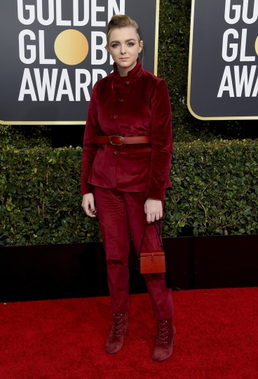 Elsie Fisher arrives at the 76th annual Golden Globe Awards at the Beverly Hilton Hotel on Sunday, Jan. 6, 2019, in Beverly Hills, Calif. (Photo by Jordan Strauss/Invision/AP)