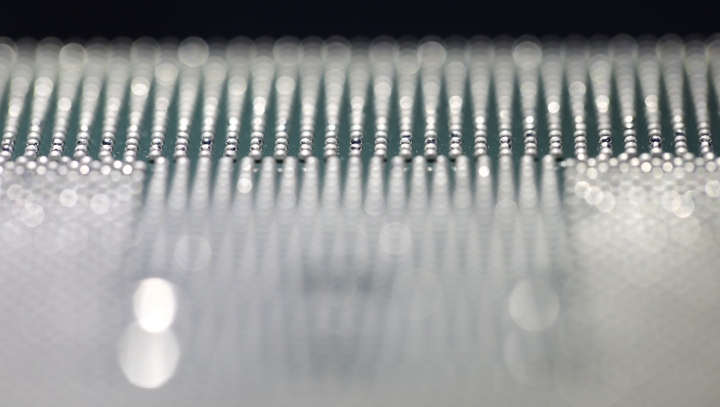 A Kunpeng 920 chip is displayed during an unveiling ceremony in Shenzhen, China, Monday, Jan. 7, 2019. Chinese telecom giant Huawei unveiled a processor chip for data centers and cloud computing as it expands into an emerging global market despite Western warnings the company might be a security risk. (AP Photo/Vincent Yu)