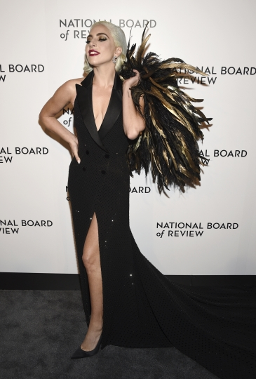 Lady Gaga attends the National Board of Review Awards gala at Cipriani 42nd Street on Tuesday, Jan. 8, 2019, in New York. (Photo by Evan Agostini/Invision/AP)