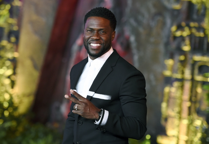 "FILE - In this Dec. 11, 2017 file photo, Kevin Hart arrives at the Los Angeles premiere of ""Jumanji: Welcome to the Jungle"" in Los Angeles. Hart says he won't be hosting the Academy Awards. ""No,"" was his response when asked Wednesday, Jan. 9, 2019 on ABC's ""Good Morning America."" Hart said it's too late to prepare. (Photo by Jordan Strauss/Invision/AP, File)"