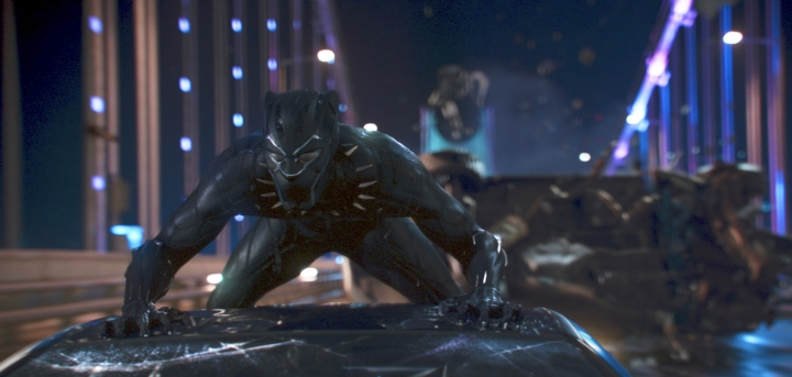 """This image released by Disney shows a scene from Marvel Studios' """"Black Panther."""" On Tuesday, Jan. 22, 2019, the film was nominated for an Oscar for best picture. The 91st Academy Awards will be held on Feb. 24, 2019. (Matt Kennedy/Marvel Studios-Disney via AP)"""