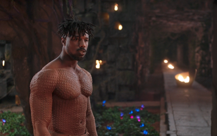 """This image released by Disney shows Michael B. Jordan in a scene from Marvel Studios' """"Black Panther."""" The film may emerge as a major contender Tuesday, Jan. 22, 2019, when nominations to the 91st Oscars are announced. (Marvel Studios-Disney via AP)"""