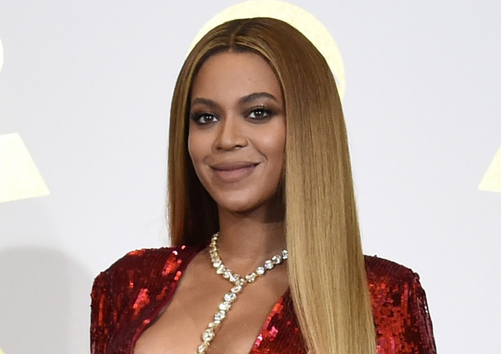 """FILE - In this Feb. 12, 2017 file photo, Beyonce poses in the press room at the 59th annual Grammy Awards in Los Angeles. The singer has advocated plant-based living in a rare social media endorsement. She and her husband Jay - Z wrote the introduction for """"The Greenprint: Plant-Based Diet, Best Body, Better World,"""" by Marco Borges, a plant-based guru who has worked with the couple. (Photo by Chris Pizzello/Invision/AP, File)"""