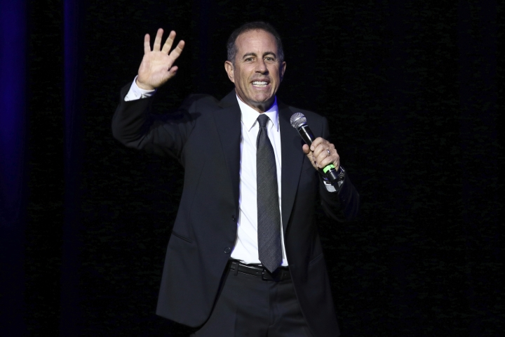 FILE - In this Nov. 1, 2016 file photo, Jerry Seinfeld performs at Stand Up For Heroes, presented by the New York Comedy Festival and the Bob Woodruff Foundation, at The Theater at Madison Square Garden in New York. Seinfeld was sued Friday, Feb. 1, 2019, by a company claiming it bought the comedian's 1958 Porsche for $1.5 million only to discover it was a fake. Fica Frio Limited's lawsuit was filed in Manhattan federal court against a comic known for his love of vintage cars. (Photo by Greg Allen/Invision/AP, File)
