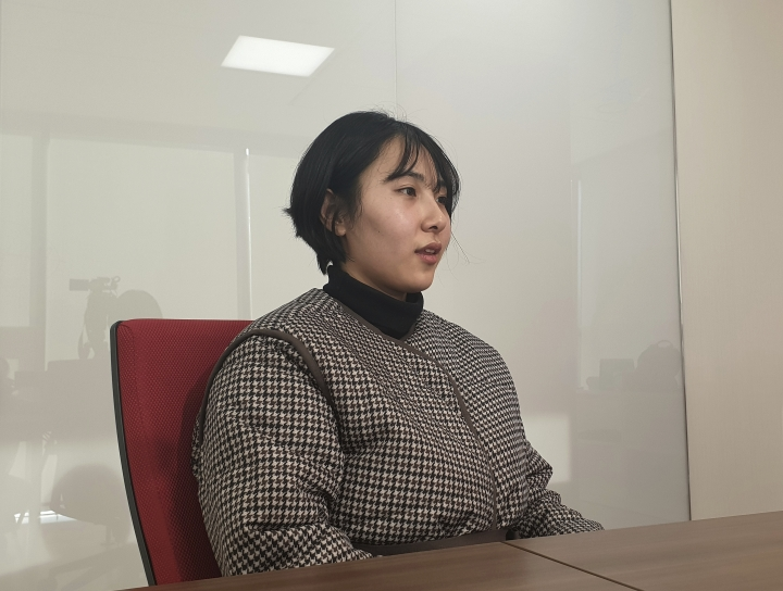 "In this Jan. 16, 2019, photo, Park I Seul speaks during an interview in Seoul, South Korea. As she pursued her dream of becoming a fashion model, Park realized she was neither tall or skinny, like typical runway models, nor ""big enough"" to be a plus-size model. She also realized one day that the only way to meet the lofty ideals of South Korea's beauty standards was for her to continuously deny herself. Her newfound view of her body is part of a growing movement by South Korean women who have begun to resist what they see as extreme pressure to look a certain way. (AP Photo/Jung Yoon Kim)"