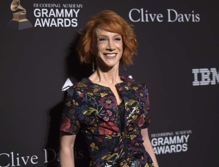 Kathy Griffin arrives at the Pre-Grammy Gala And Salute To Industry Icons at the Beverly Hilton Hotel on Saturday, Feb. 9, 2019, in Beverly Hills, Calif. (Photo by Richard Shotwell/Invision/AP)