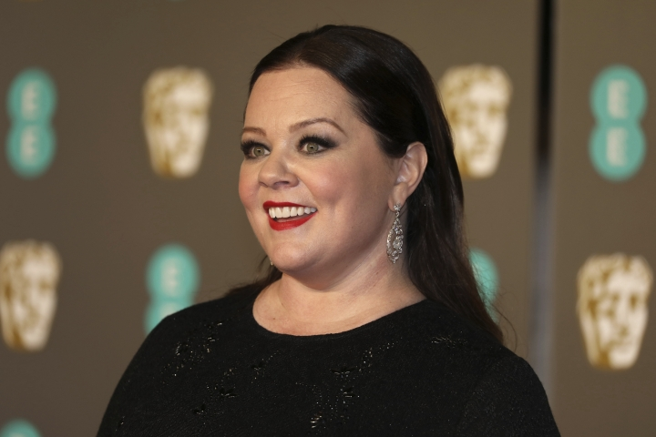 Actress Melissa McCarthy poses for photographers upon arrival at the BAFTA awards in London, Sunday, Feb. 10, 2019. (Photo by Vianney Le Caer/Invision/AP)