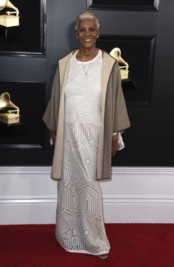 Dionne Warwick arrives at the 61st annual Grammy Awards at the Staples Center on Sunday, Feb. 10, 2019, in Los Angeles. (Photo by Jordan Strauss/Invision/AP)