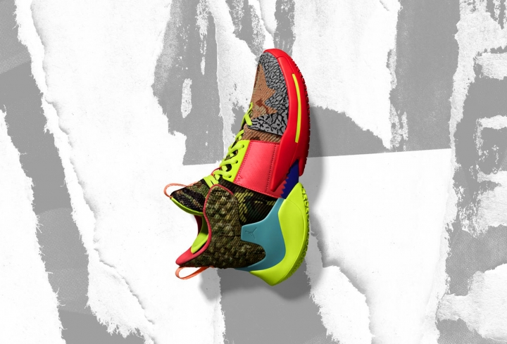 In this undated image provided by Nike, a shoe that Oklahoma City Thunder's Russell Westbrook will wear for the NBA All-Star Game is shown. The 68th NBA All-Star Game will be played in Charlotte, N.C. on Feb. 17, 2019. (Nike via AP)