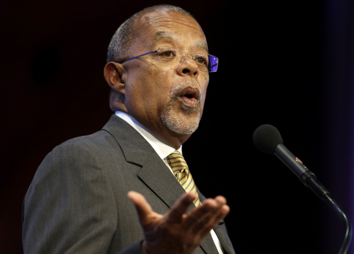 "FILE - In this Oct. 2, 2013 file photo, Harvard University professor Henry Louis Gates, Jr., addresses the audience during an award ceremony for the W.E.B. Du Bois Medal at Harvard University, in Cambridge, Mass. Gates said he hopes this season of his popular PBS series ""Finding Your Roots"" helps a divided U.S. see how all Americans have unique family links and how those family histories tell the story of the country. (AP Photo/Steven Senne, File)"