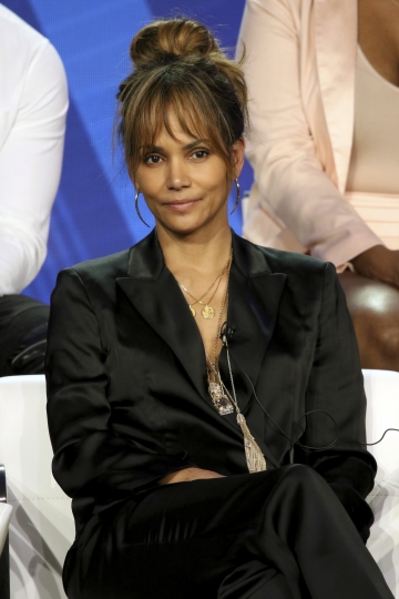 """Halle Berry participates in the """"Boomerang"""" panel during the BET presentation at the Television Critics Association Winter Press Tour at The Langham Huntington on Monday, Feb. 11, 2019, in Pasadena, Calif. (Photo by Willy Sanjuan/Invision/AP)"""