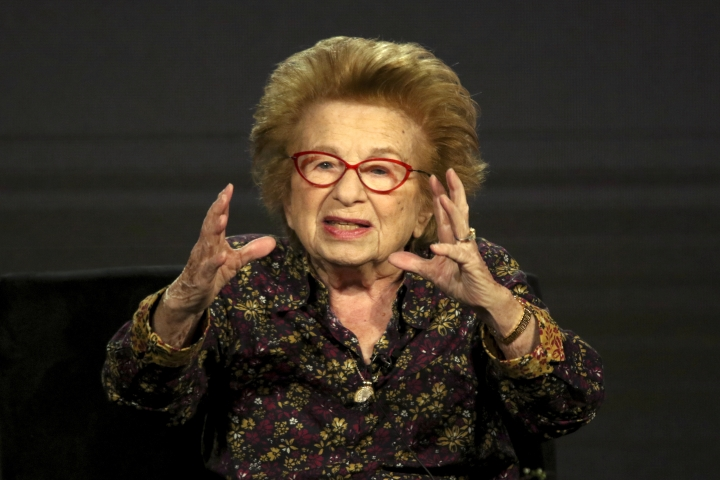 "Dr. Ruth Westheimer participates in the ""Ask Dr. Ruth"" panel during the Hulu presentation at the Television Critics Association Winter Press Tour at The Langham Huntington on Monday, Feb. 11, 2019, in Pasadena, Calif. (Photo by Willy Sanjuan/Invision/AP)"