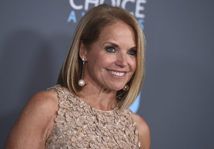 "FILE - In this Jan. 11, 2018 file photo, Katie Couric poses in the press room at the 23rd annual Critics' Choice Awards in Santa Monica, Calif. Couric is writing a memoir, one she is counting on to live up to its title: ""Unexpected."" In an announcement Tuesday, Feb. 12, 2019, the publisher Little, Brown and Company told The Associated Press that the book was scheduled for spring 2021. (Photo by Jordan Strauss/Invision/AP, File)"