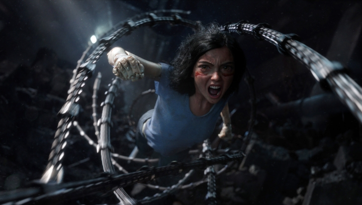 "This image released by Twentieth Century Fox shows the character Alita, voiced by Rosa Salazar, in a scene from ""Alita: Battle Angel."" (Twentieth Century Fox via AP)"