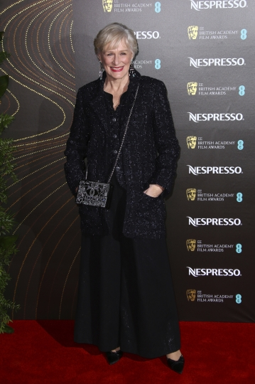 Actress Glenn Close poses for photographers upon arrival at the BAFTA Nominees Party in London, Saturday, Feb. 9, 2019. (Photo by Joel C Ryan/Invision/AP)