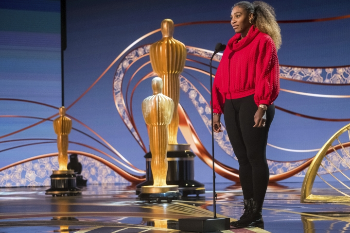 Serena Williams appears during rehearsals for the 91st Academy Awards in Los Angeles on Saturday, Feb. 23, 2019. (Photo by Charles Sykes/Invision/AP)