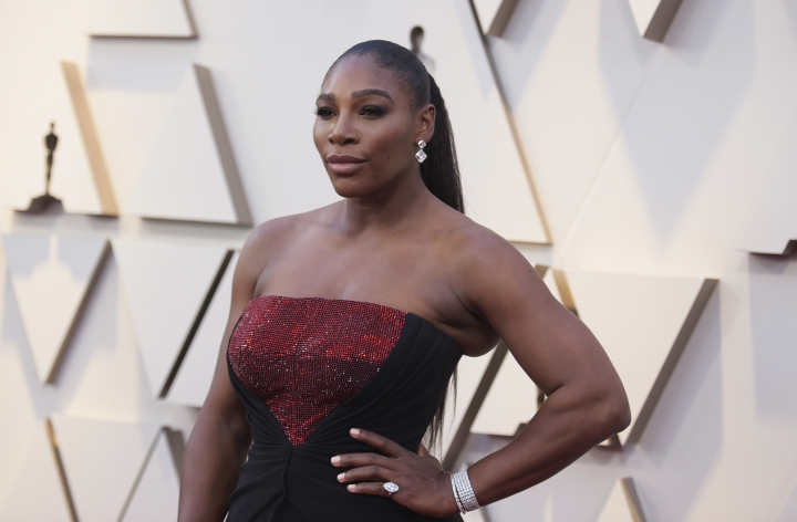 Serena Williams arrives at the Oscars on Sunday, Feb. 24, 2019, at the Dolby Theatre in Los Angeles. (Photo by Richard Shotwell/Invision/AP)
