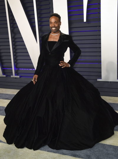 Billy Porter arrives at the Vanity Fair Oscar Party on Sunday, Feb. 24, 2019, in Beverly Hills, Calif. (Photo by Evan Agostini/Invision/AP)