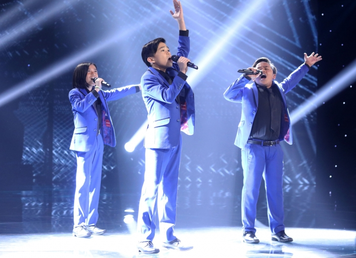 """This image released by CBS shows the TNT Boys performing on the premiere of the competition series """"The World's Best,"""" which debuted Feb. 3, 2019, immediately following the Super Bowl. The program was viewed by 22 million people. (Monty Brinton/CBS via AP)"""