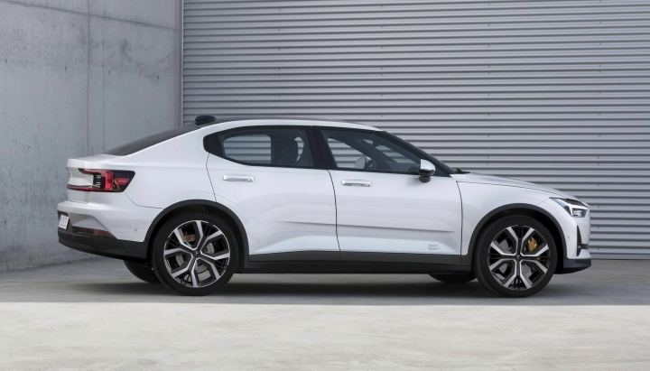 This undated photo made available by Polestar shows the Polestar 2 electric car in Spain. Volvo's electric performance brand Polestar is unveiling a battery-powered compact car that will be presented at the 'Geneva International Motor Show' which takes place in Geneva, Switzerland, from March 7 until March 17, 2019. Automakers are rolling out new electric and hybrid models at the show as they get ready to meet tougher emissions requirements in Europe - while not forgetting the profitable and popular SUVs and SUV-like crossovers. (Polestar via AP)