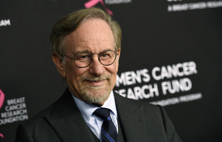 "FILE - In this Thursday, Feb. 28, 2019, file photo, filmmaker Steven Spielberg poses at the 2019 ""An Unforgettable Evening"" benefiting the Women's Cancer Research Fund, at the Beverly Wilshire Hotel, in Beverly Hills, Calif. Reports that Spielberg intends to support rule changes that could block Netflix from Oscars-eligibility have provoked a heated and unwieldy online debate. (Photo by Chris Pizzello/Invision/AP, File)"