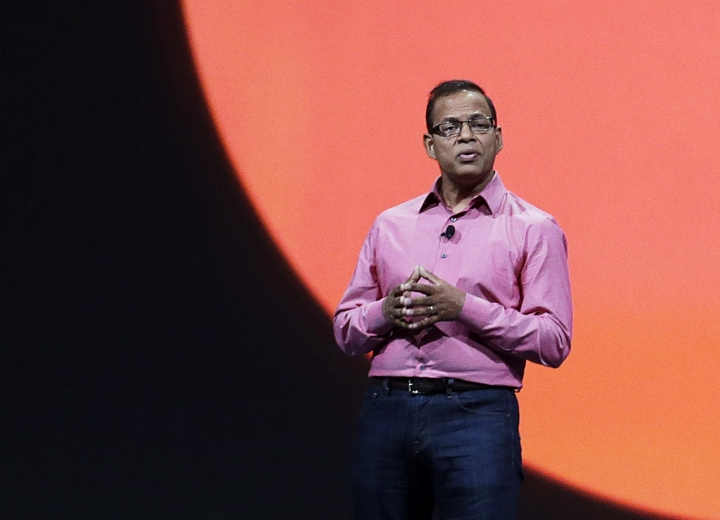 FILE - In this May 15, 2013, file photo, Amit Singhal, senior vice president and software engineer at Google Inc., speaks at Google I/O 2013 in San Francisco. Google paid former search executive Singhal $35 million in an exit package when the exec was reportedly forced to resign after a sexual assault investigation, according to court documents released Monday, March 11, 2019. (AP Photo/Jeff Chiu, File)