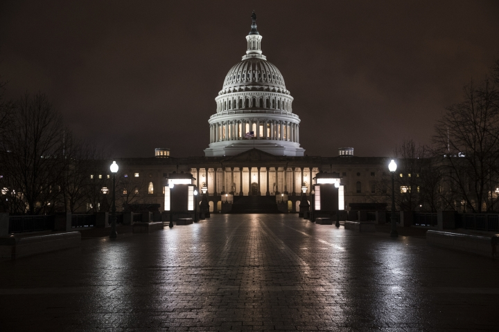 FILE - This March 21, 2018 file photo shows the Capitol in Washington before dawn. A Gallup poll in December 2018 asked respondents in the U.S. to rank 20 different occupations in terms of their ethical standards _ members of Congress ranked the lowest, below car salespeople and telemarketers. Nurses were at the top. (AP Photo/J. Scott Applewhite)